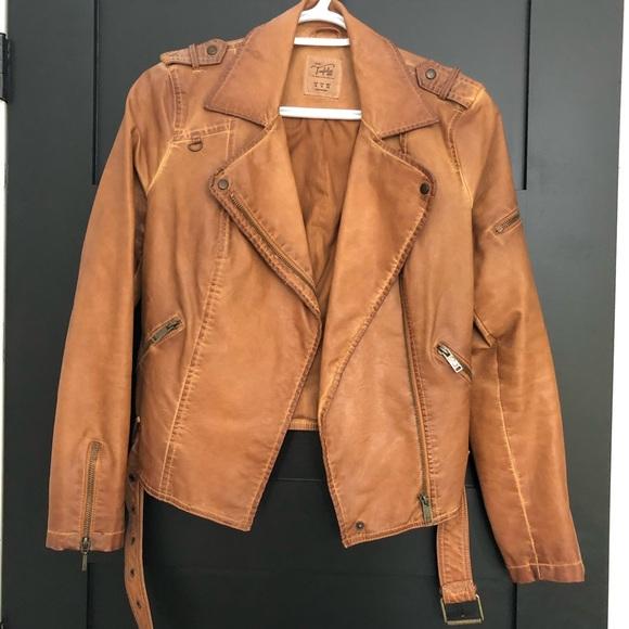 Zara Jackets & Blazers - Zara trafaluc Faux leather jacket